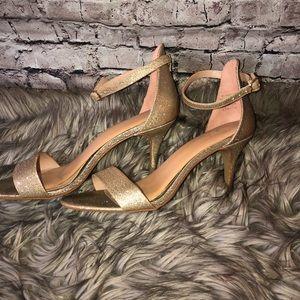 Kelly & Katie gold sparkle dressy heels